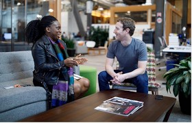 Mark Zuckerberg meets founder of Nigerian secret Facebook group(FIN), Lola Omolola