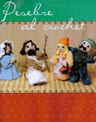 Presépio Em Crochê Com Receita Em Espanhol
