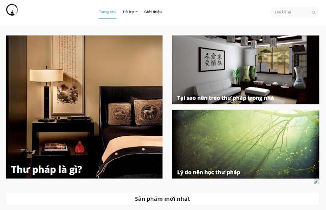 Tôi mở trang website về thư pháp Việt