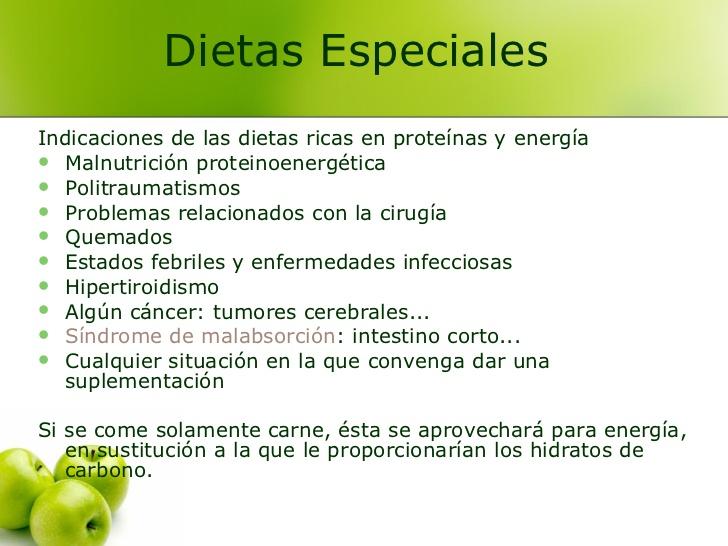 Tipos de dietas para pacientes hospitalizados