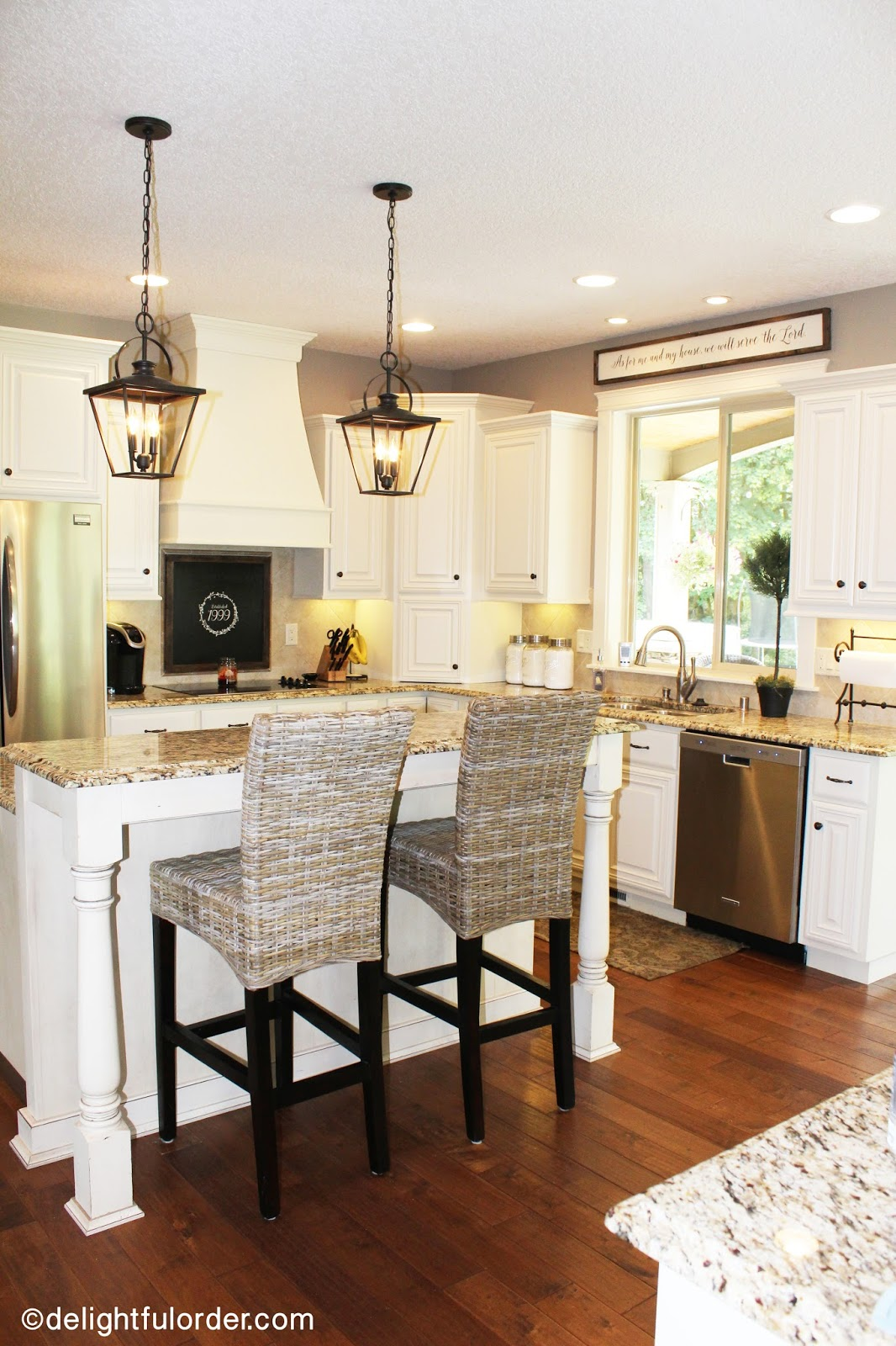 Delightful Order: My Kitchen Makeover: White Painted Cabinets