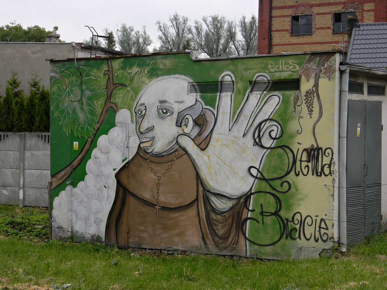 malowidło ścienne, sztuka, miasto, Zbąszyń