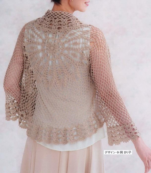 Crochet Sweaters Crochet Pattern Of Delicate Circular Sweater
