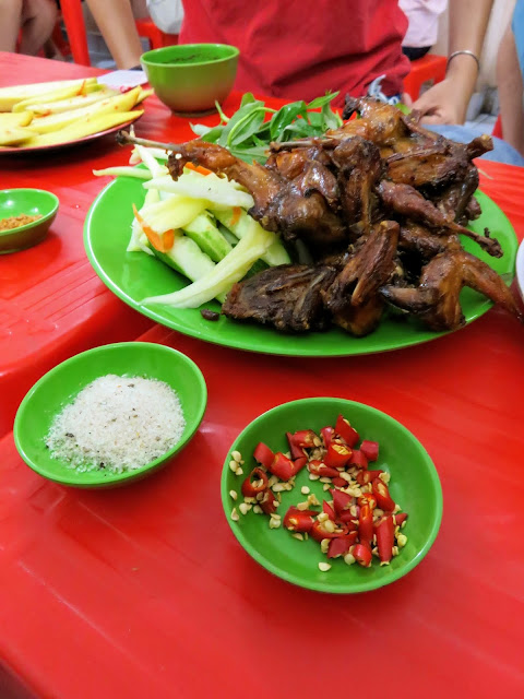 Spicy quail on the Back of the Bike Street Food Tour in Ho Chi Minh City Vietnam