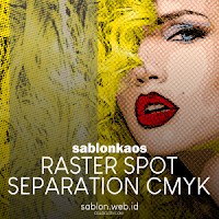 Dot Sablon Kaos Raster Spot Color & Separation CMYK