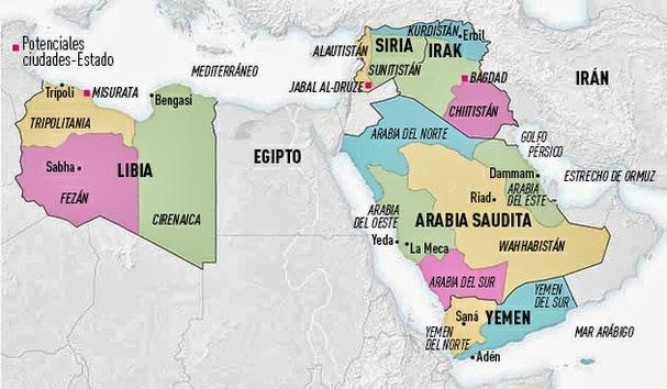 Medio Oriente Contemporaneo El Futuro Mapa De Oriente Medio 5