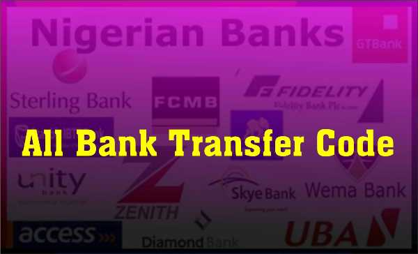 Bank Transfer Codes To Transfer Money Via Mobile Phone in