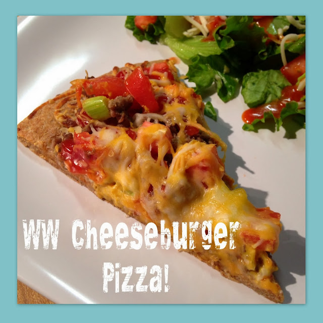Working On My Forever: Weight Watchers Cheeseburger Pizza