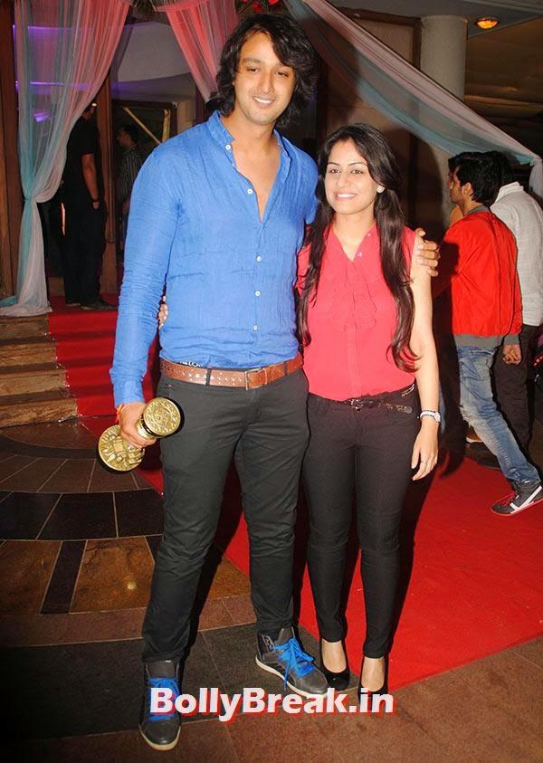 Saurabh Raaj Jain with wife, Indian Tv Serial Mahabharat Heroines and Heroes Pics from Success Party