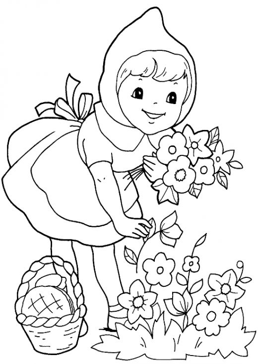 Fun coloring pages red riding hood coloring pages for Red coloring pages