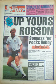Sport newspaper back page from 5 October 1988