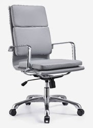 High Back Hendrix Chair in Gray Leather
