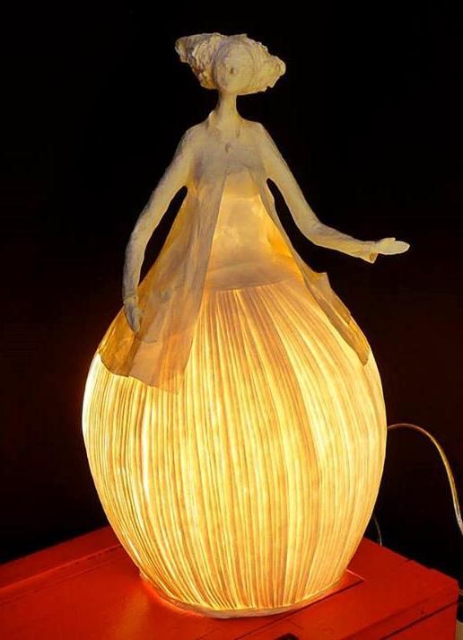 lampy z papierowej masy