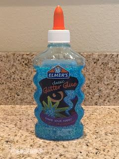 Blue glitter glue