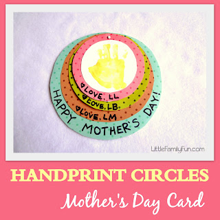 Handprint Circles Mother's Day Card