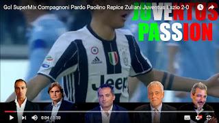 Juventus Lazio 2-0 compilation commenti ai gol Serie A video