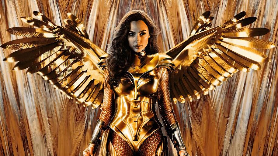 Wonder Woman 1984, Gal Gadot, Gold, Armor, Wings, 4K, #7.1565