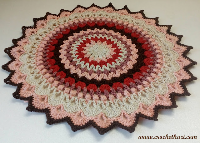 crochet lotus flower mandala
