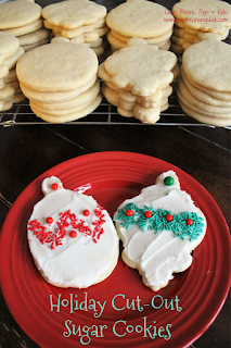 Holiday Cut-Out Sugar Cookies - perfect for Christmas or Valentines, soft and easy to cut and decorate #sponsored #ChristmasCookiesWeek #ChristmasCookies
