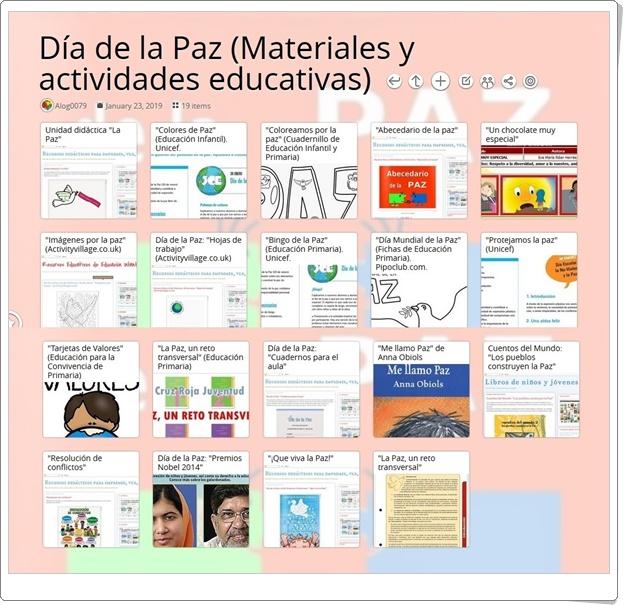 """""""19 materiales y actividades educativas para celebrar el DÍA DE LA PAZ"""" (30 de enero)"""