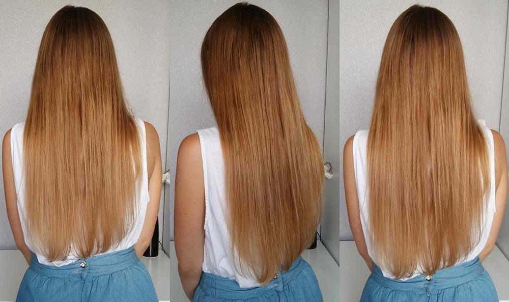 Znalezione obrazy dla zapytania: olej rycynowy na włosy przed i po