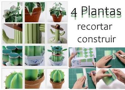 Recortables en Pdf de 4 Plantas para construir