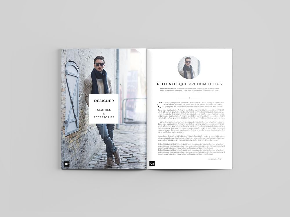 Fashion Catalog Design Inspiration