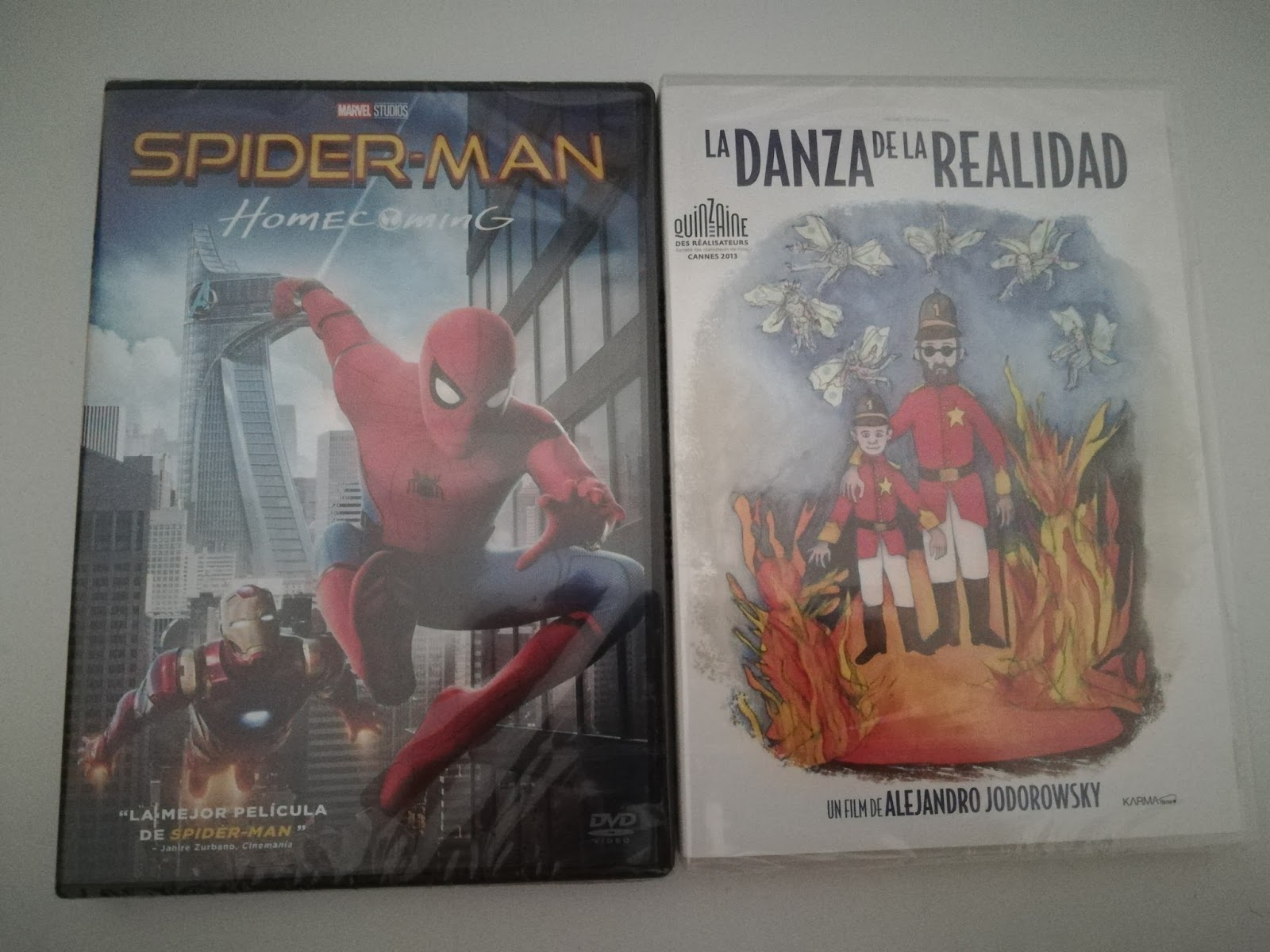 Sorteo DVD de 'Spiderman: Homecoming' y DVD de 'La danza de la realidad'