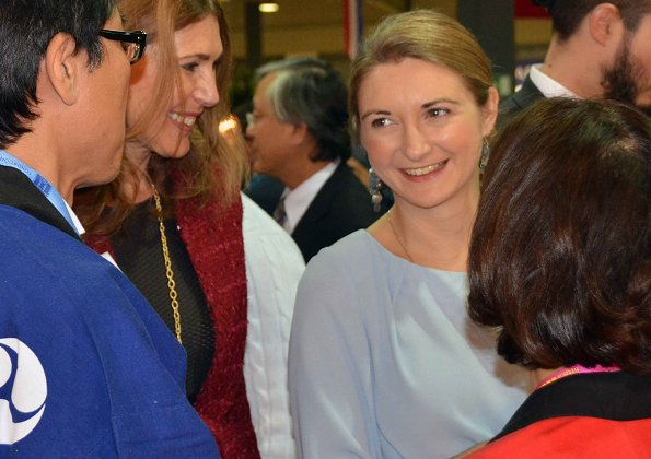 Duchess Maria Teresa and Hereditary Grand Duchess Stephanie visited the 57th International Bazaar at Luxexpo
