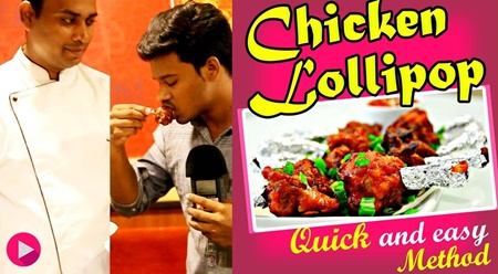 "how to make ""chicken lollipop"" -Wang's Kitchen"