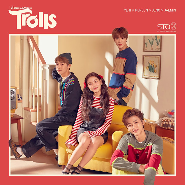 sm Station yeri Jeno renjun jaemin net hair in the air trolls