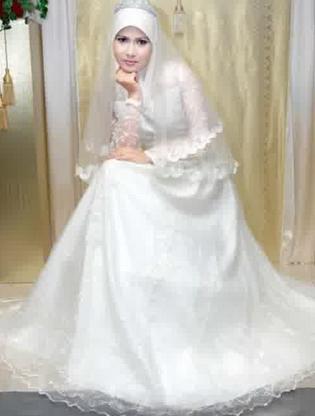 Contoh Model Gaun Pengantin Muslim 2015