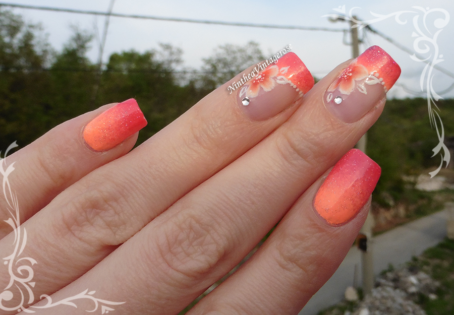 Secretly In Love With Nail Polishes Orange Flower