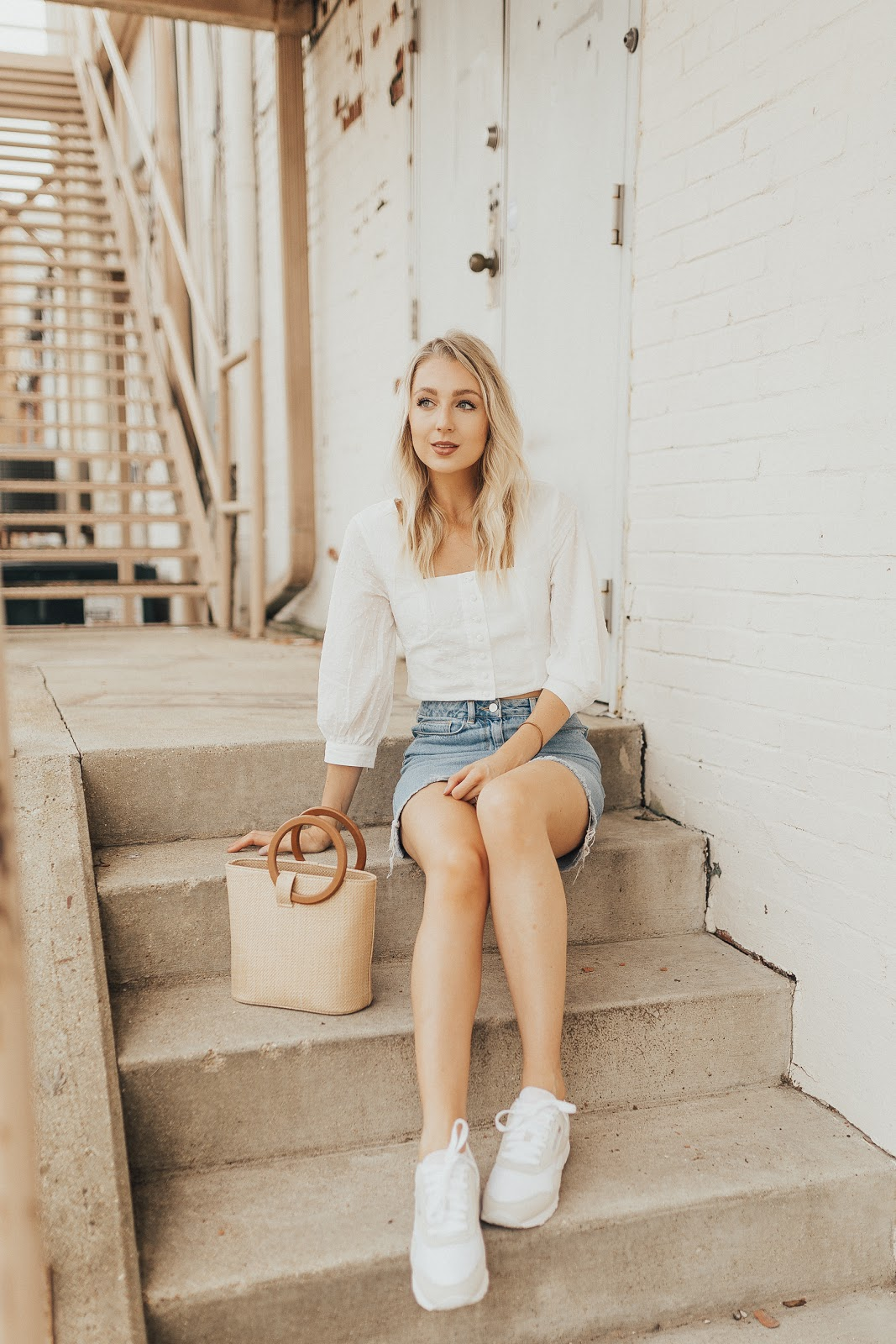 how to style sneakers with a dressy top