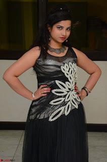 Shrisha Dasari in Sleeveless Short Black Dress At Follow Follow U Audio Launch 024.JPG