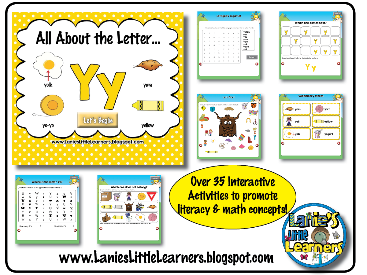 Lanie S Little Learners All About The Letter Yy Letter