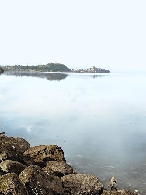 Bisentina is the bigger island on Lake Bolsena