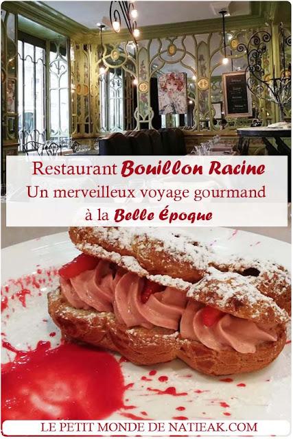 avis sur le Restaurant Bouillon Racine