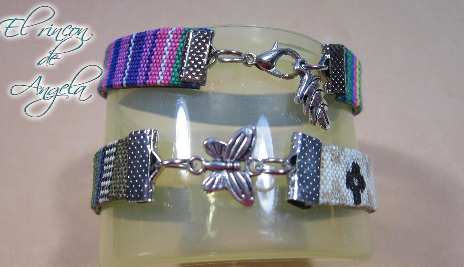 El Rincon de Angela Bisuteria FacilL Como hacer pulseras con cinta