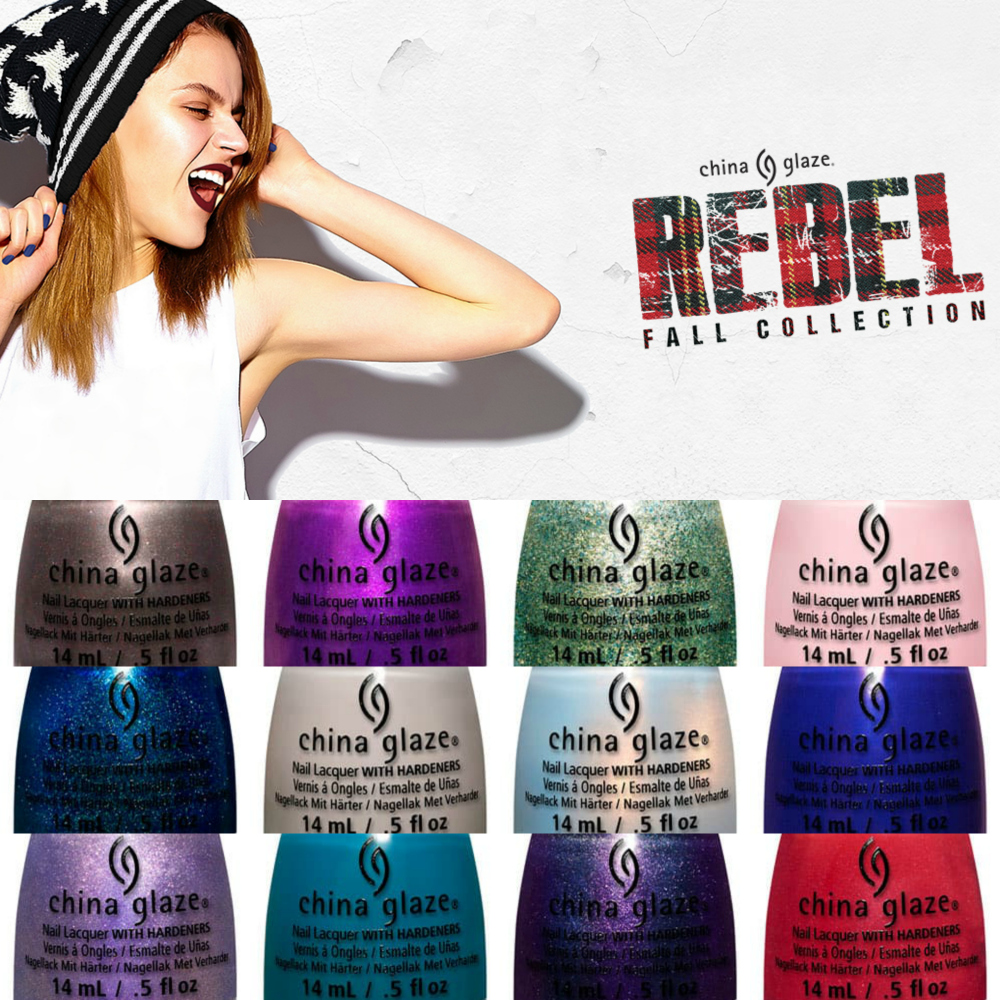 KellieGonzo: China Glaze Fall 2016 Rebel Collection Swatches & Review