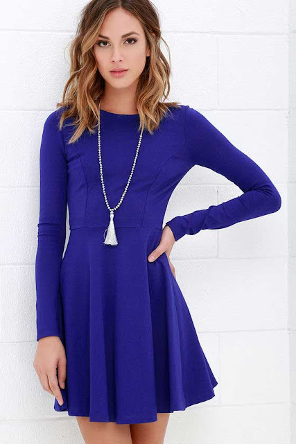 Sexy Short Royal Blue Dress for Valentines Day I Outfit Ideas