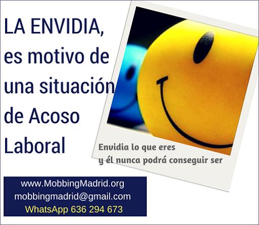 PRIDICAM #MobbingMadrid LA ENVIDIA, es motivo de una situación de #AcosoLaboral
