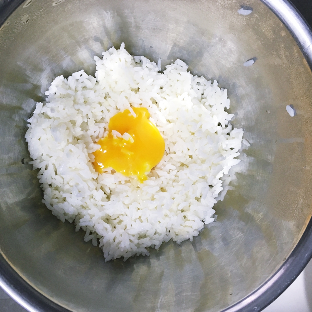 how to add egg too fried rice
