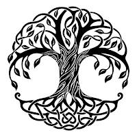 דפי צביעה למבוגרים- עצים