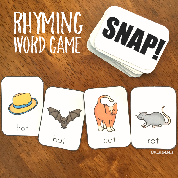 Rhyming Word SNAP Game| you clever monkey
