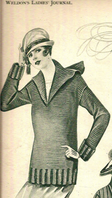 The Vintage Pattern Files: Free 1920s Knitting Pattern - Weldon's Lady's Jumper
