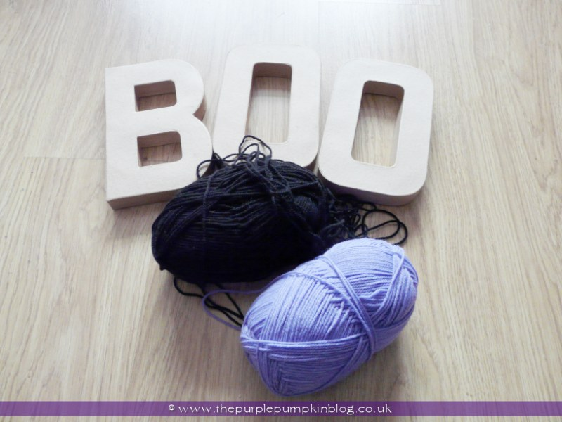 BOO! Yarn Wrapped Letters Halloween Decoration