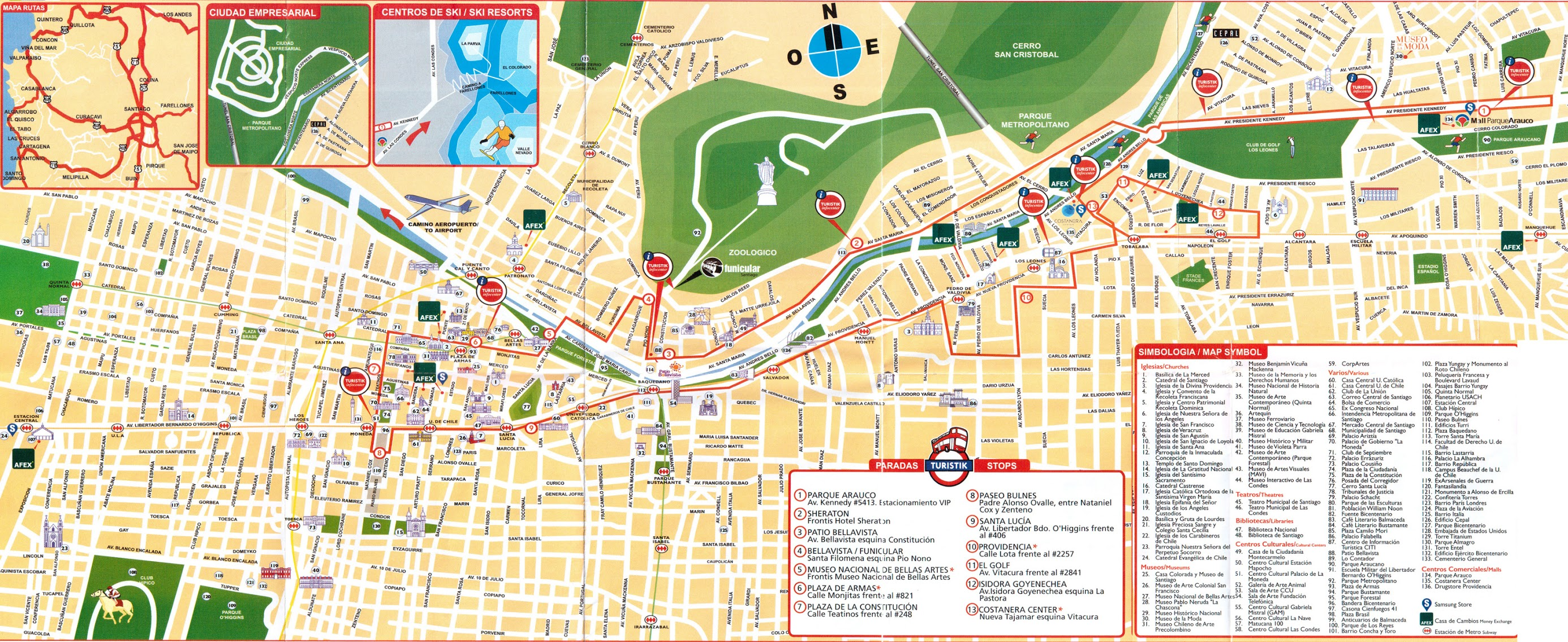 Santiago De Chile Mapa Turistico.Mapa De Santiago De Chile Para Imprimir Minimalist