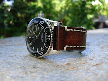My Revue Thommen Diver on Antique Mahognay & Cream Linen