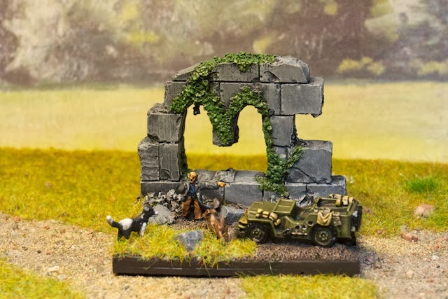 Engineered Gaming: Painting Challenge Entry 1: Flames of War Objective Marker